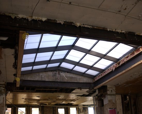 unrestored skylight slide