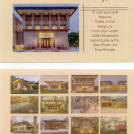 Pack of 15 Postcards from The Prairie School of Architecture in Mason City