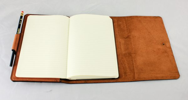 Frank Lloyd Wright Mercury Statue Leather Bound Journal Pages