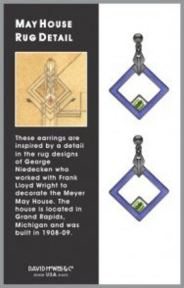 meyer-may-house-rug-earrings-blue-frank-lloyd-wright